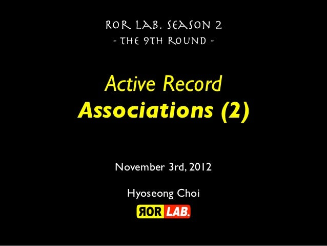 Active Record Association (2), Season 2