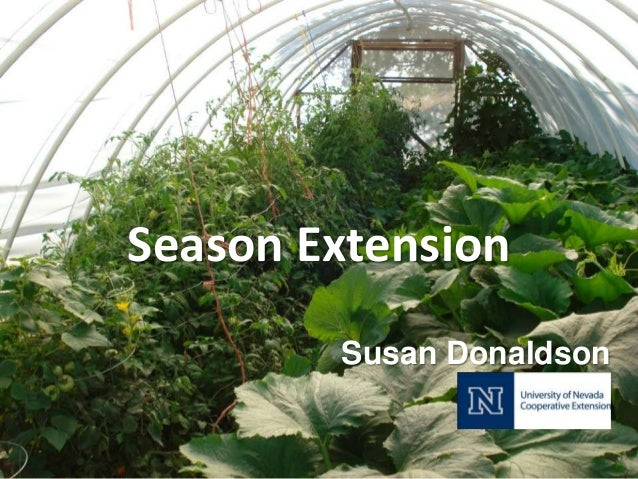Season Extension        Susan Donaldson