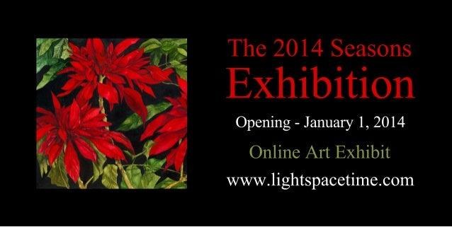 Seasons 2014 Online Art Exhibition - Event Postcard
