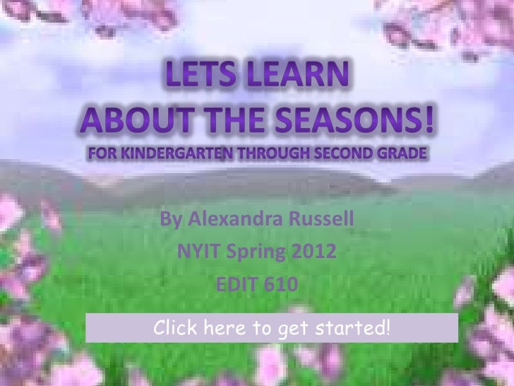 The fours seasons by Alexandra Russell