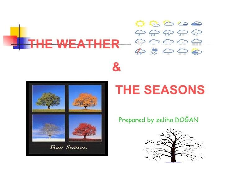 THE WEATHER  & THE SEASONS Prepared by zeliha DOĞAN