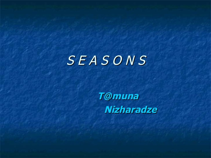 Seasons (Bolo Versia)