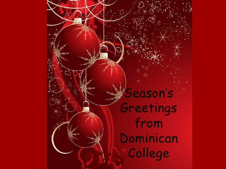 Season's Greetings from Dominican College<br />