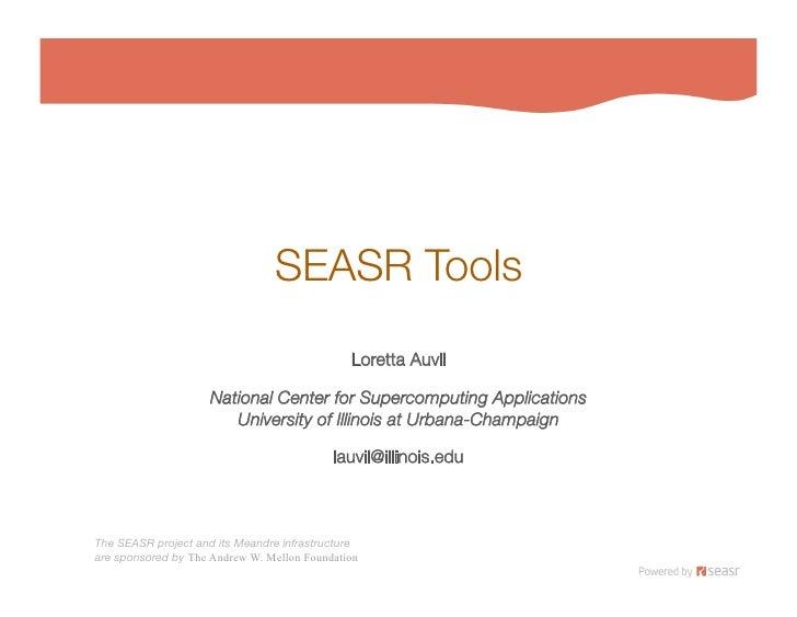 SEASR Tools