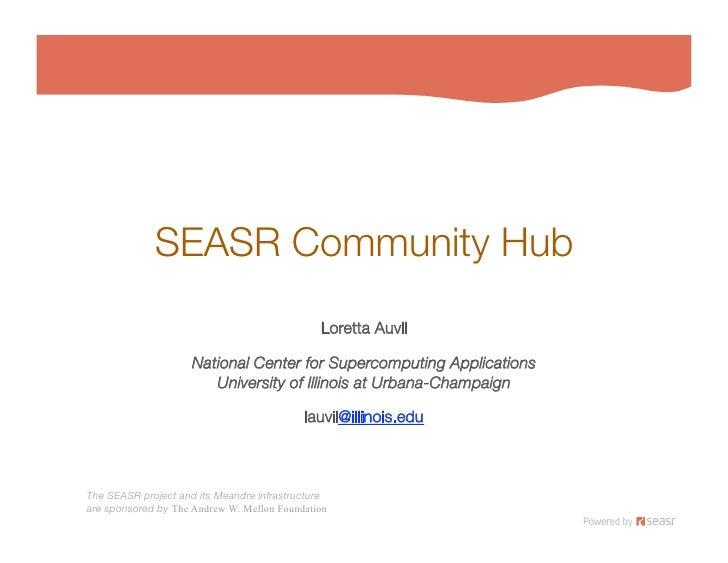 SEASR Community Hub