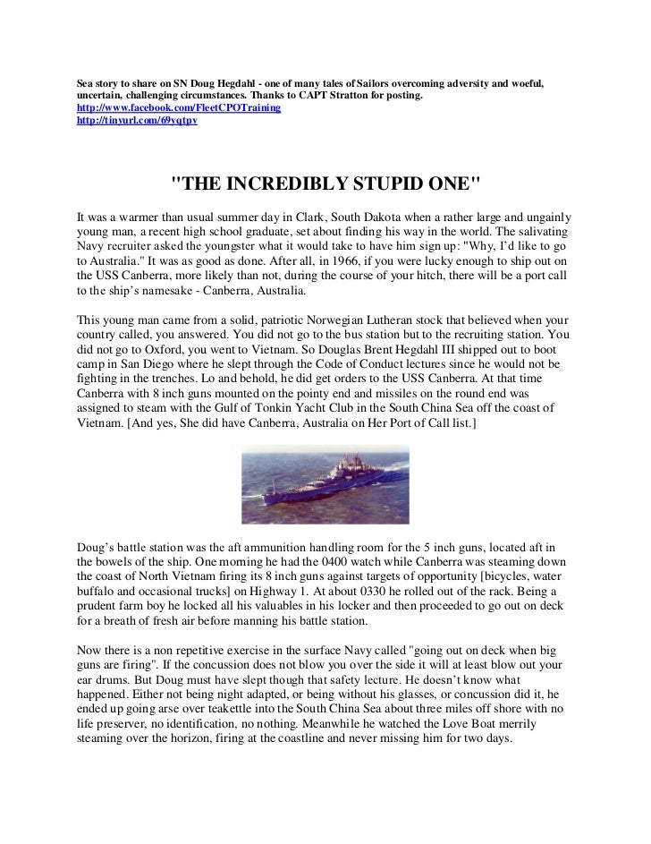 Sea Story (SN Doug Hegdahl)