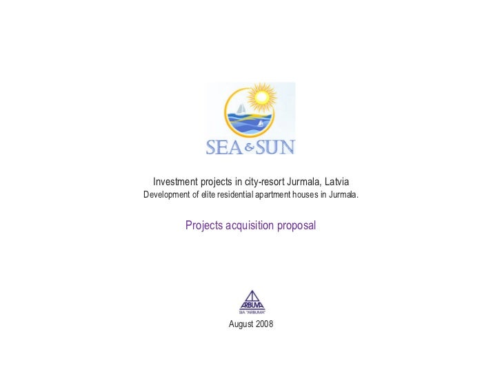 Investment projects in city-resort Jurmala, Latvia Development of elite residential apartment houses in Jurmala. Projects ...