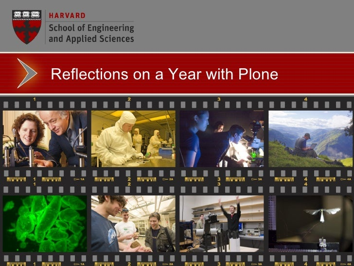 Reflections on a Year with Plone: Harvard School of Engineering and Applied Sciences