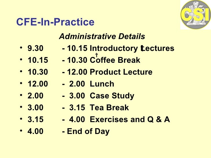 <ul><li>Administrative Details </li></ul><ul><li>9.30  - 10.15 Introductory Lectures </li></ul><ul><li>10.15  - 10.30 Coff...