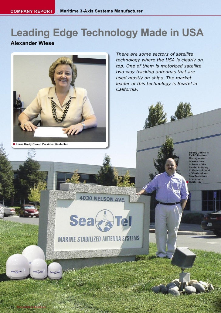 COMPANY REPORT                        Maritime 3-Axis Systems Manufacturer     Leading Edge Technology Made in USA Alexand...