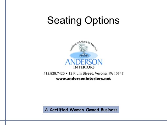 Anderson Interiors - Seating Standards 2012