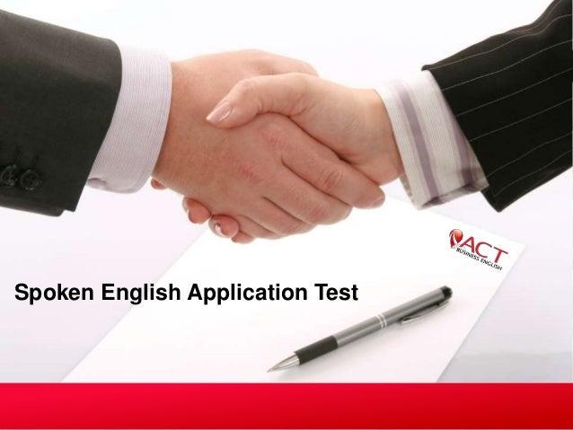 Spoken English Application Test