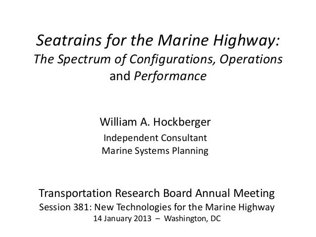 Seatrains for Marine Highway