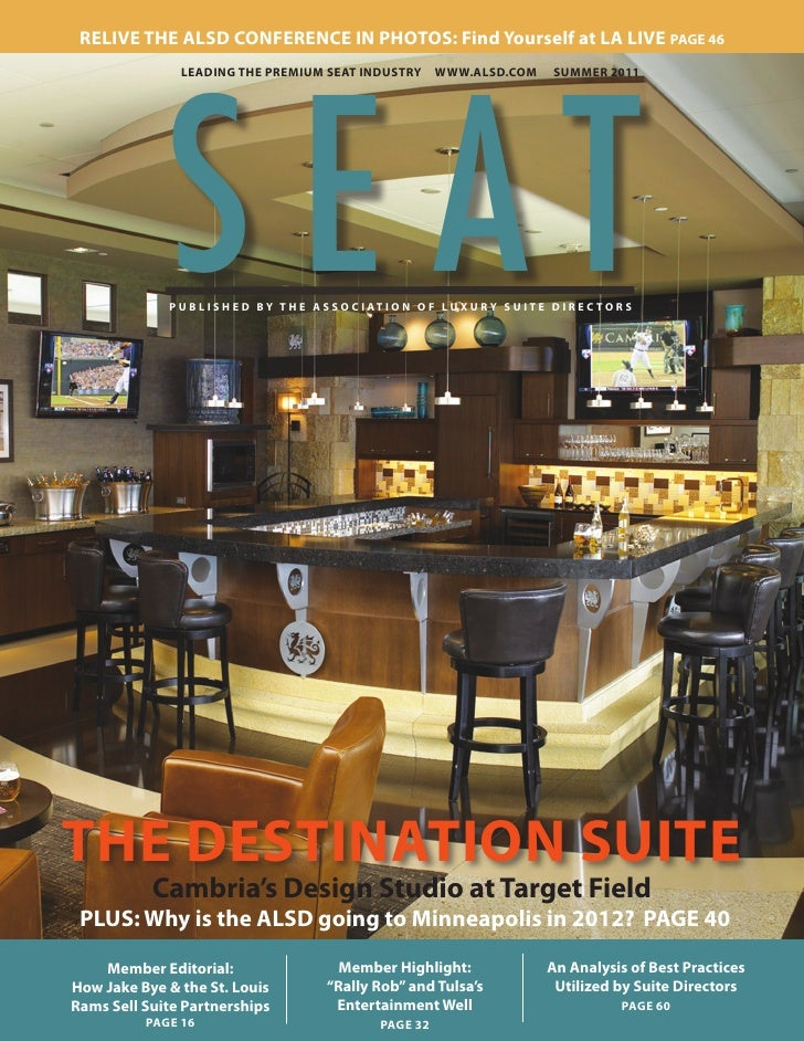 SEAT magazine, published by the Association of Luxury Suite Directors