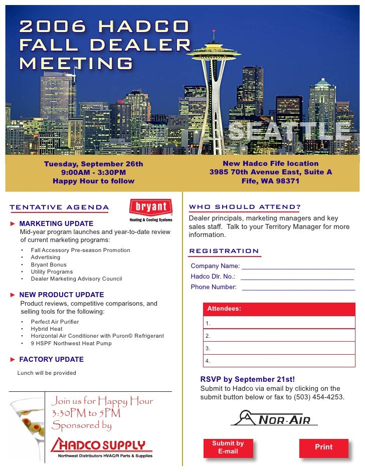 2006 HADCO  FALL DEALER  MEETING                                                                           SEATTLE        ...