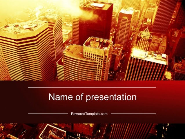 Seattle PowerPoint Template by PoweredTemplate.com