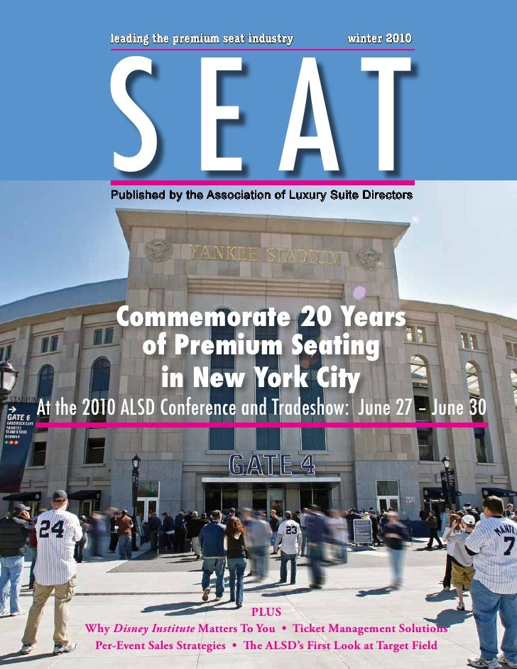 S E AT           leading the premium seat industry           winter 2010               Published by the Association of Lux...