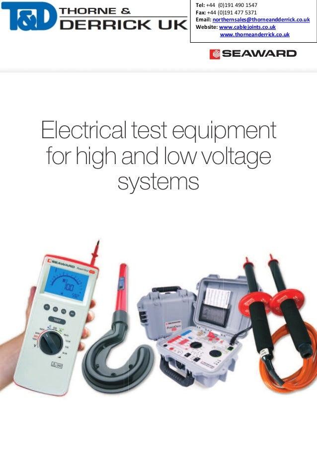 High Voltage Phase Tester : Seaward kd e high voltage hv indicators detectors