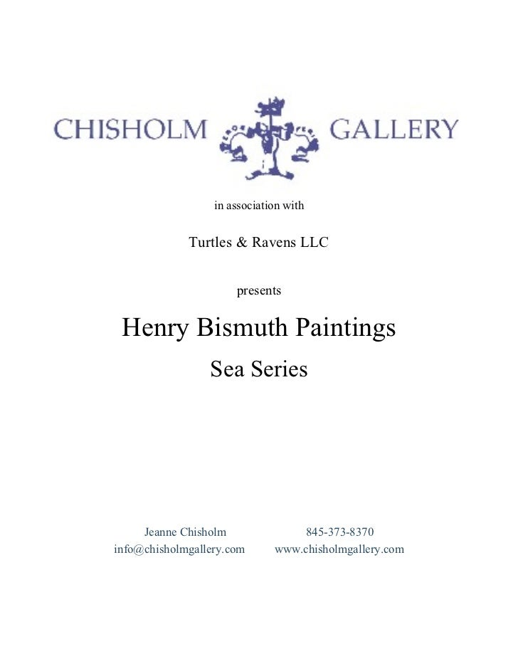 Sea Series by Henry Bismuth, Courtesy of Chisholm Gallery