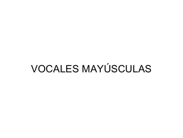 VOCALES MAYÚSCULAS