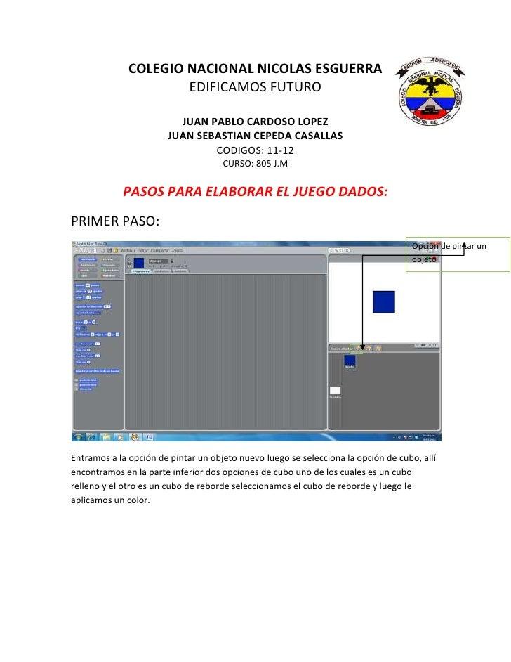 COLEGIO NACIONAL NICOLAS ESGUERRA                      EDIFICAMOS FUTURO                         JUAN PABLO CARDOSO LOPEZ ...