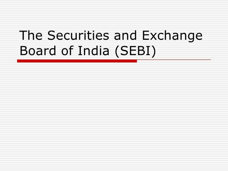Sebi stock options guidelines