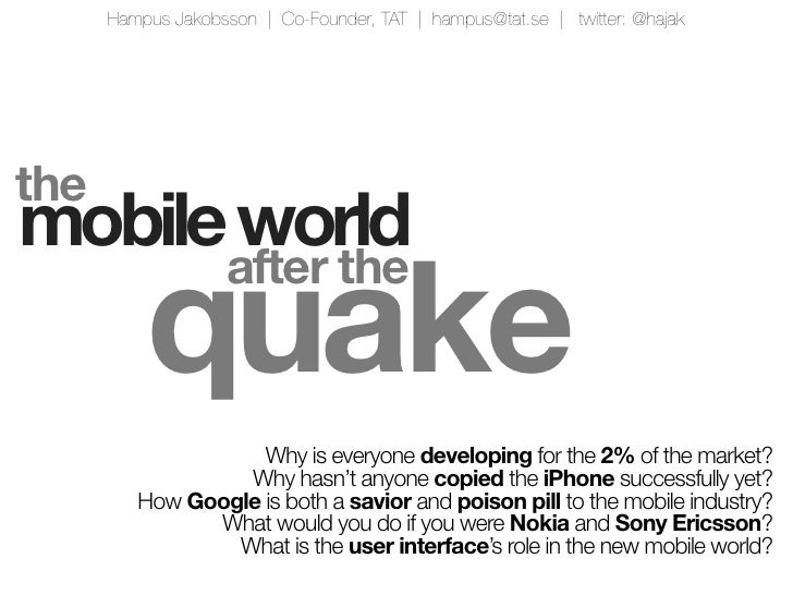 SEB Talk 20100507 - Can Symbian save Nokia's smartphone ambitions?
