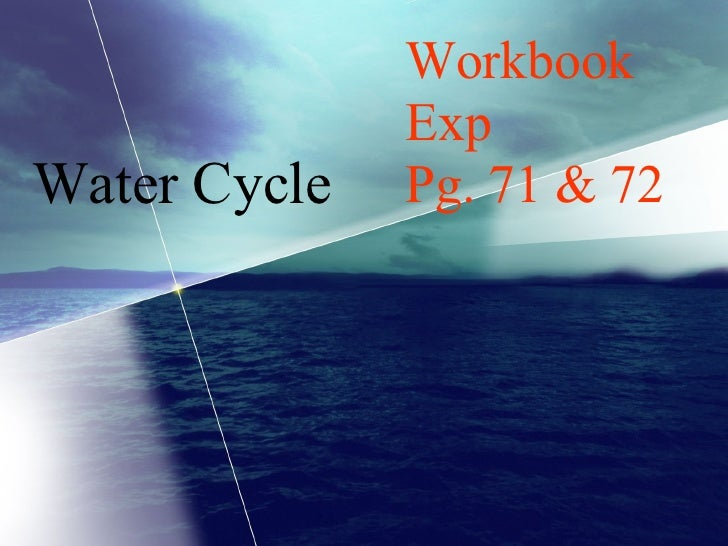 Sec 1 Express - Water Cycle