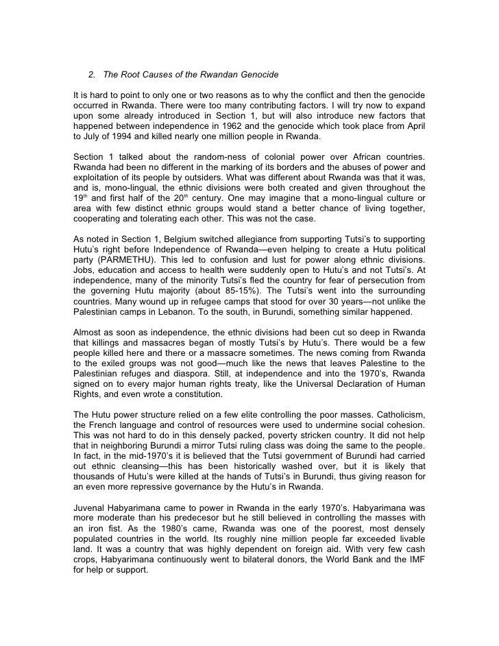 Sec 2 Root Causes Of The Rwandan Genocide