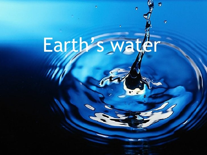 Sec1 Express - Earth's Water
