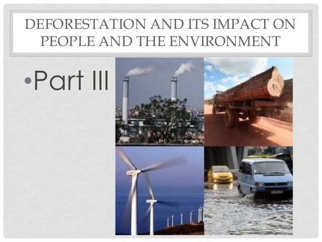 DEFORESTATION AND ITS IMPACT ON PEOPLE AND THE ENVIRONMENT •Part III
