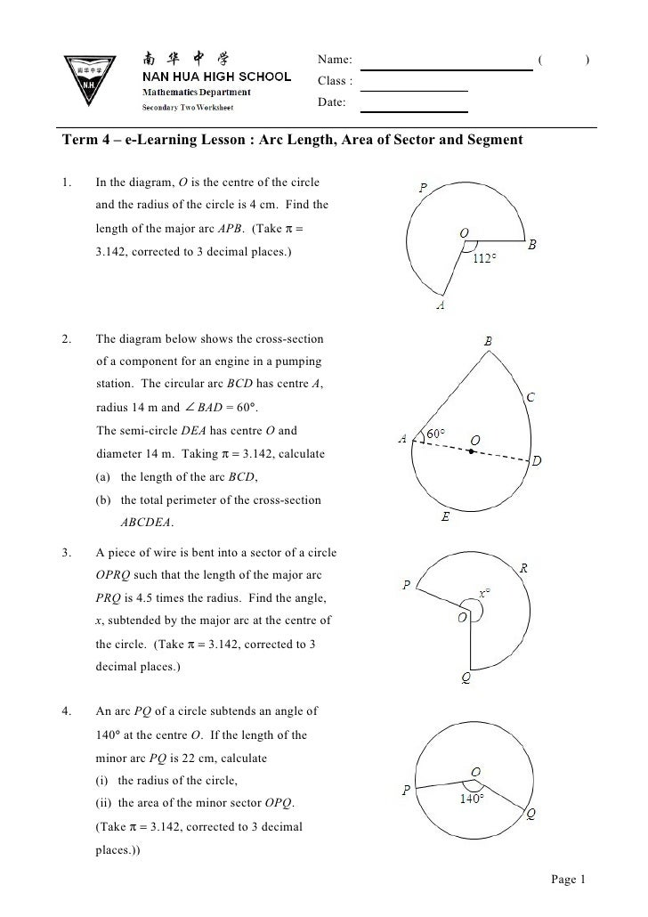 Sec 2   Term 3 Arc Length 01  97