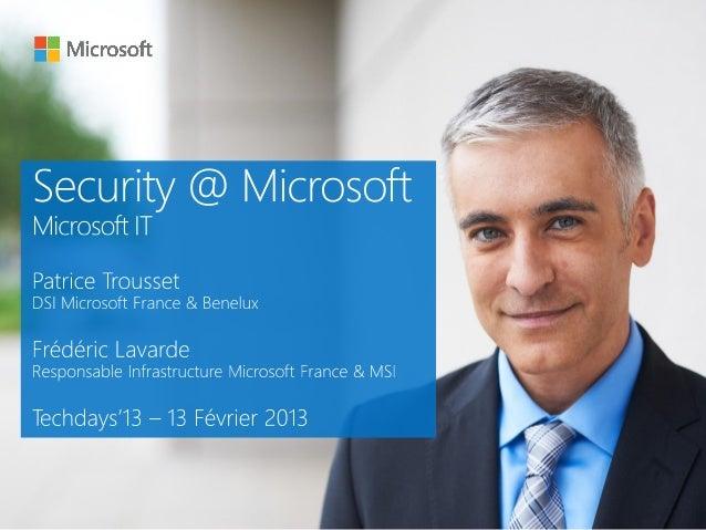 Mise en œuvre de la sécurité par l'informatique interne de Microsoft (MSIT)