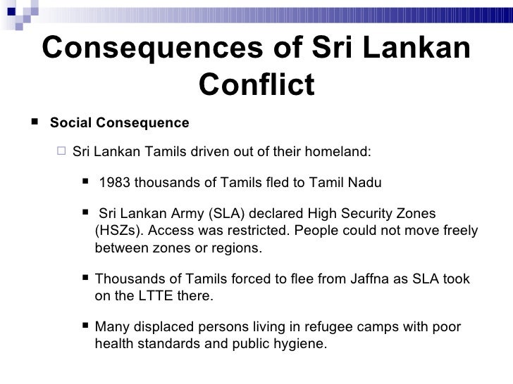 sri lanka conflict consequences essay