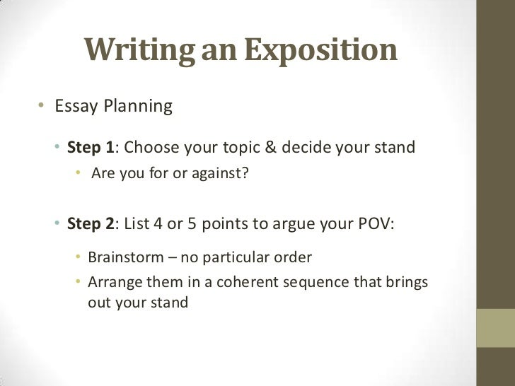 steps to write an expository essay