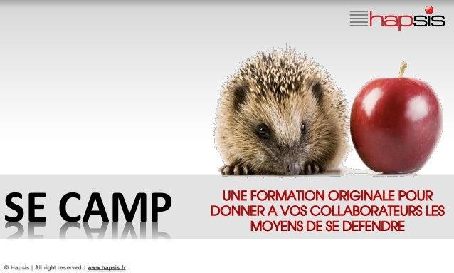 UNE FORMATION ORIGINALE POURSE CAMP                                         DONNER A VOS COLLABORATEURS LES               ...