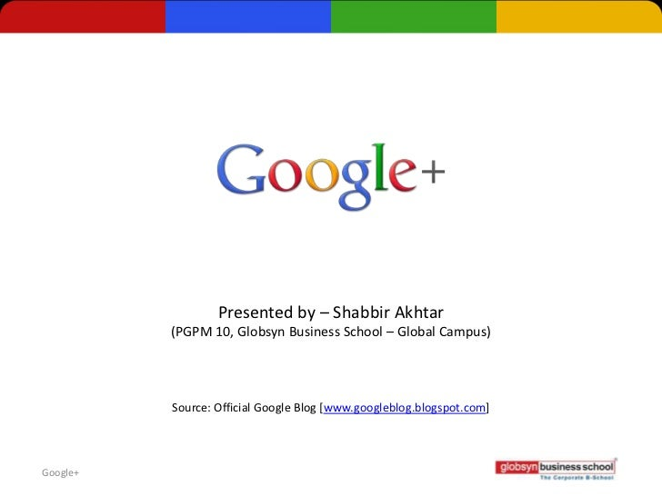 Google+ (IT for Managers)