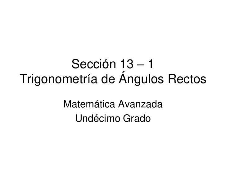 Trigonometría de Ángulos Rectos