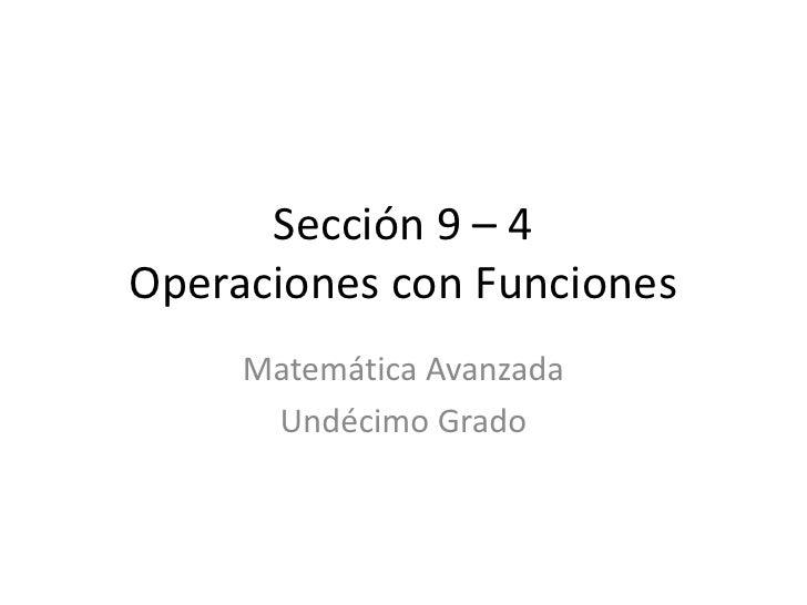 Sección 9 – 4