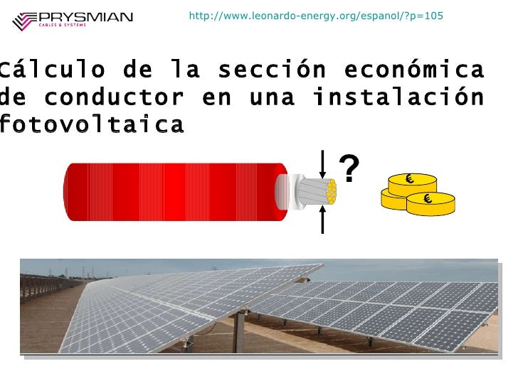 Dimensionamiento de cables al óptimo económico - Caso de una planta fotovoltaica