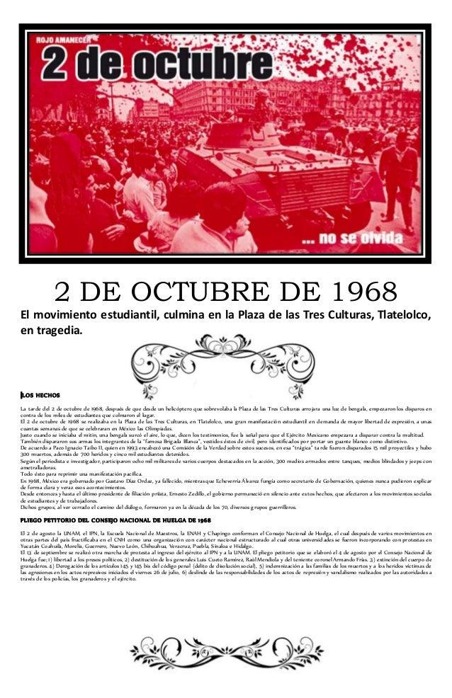 Secciones para el periodico mural 2 octubre for El periodico mural y sus secciones