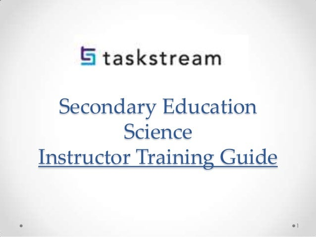 Secondary Education Science Instructor Training Guide  1