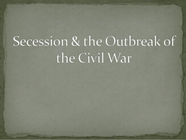 "Lincoln's election led to secession by 7 states in the  Deep South but that did not necessarily mean ""civil war"" Two thi..."