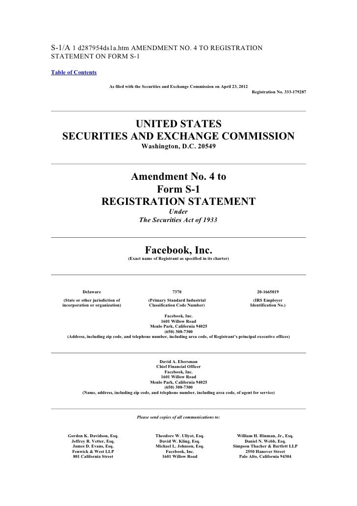 S-1/A 1 d287954ds1a.htm AMENDMENT NO. 4 TO REGISTRATIONSTATEMENT ON FORM S-1Table of Contents                             ...