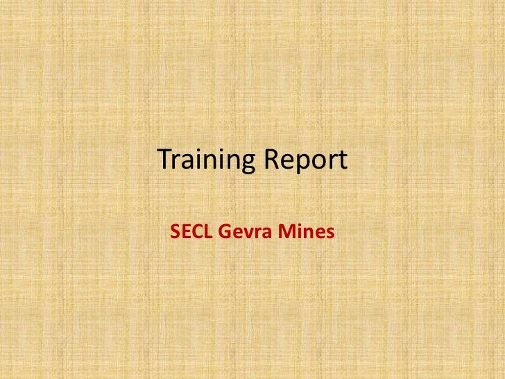 SECL training presentation
