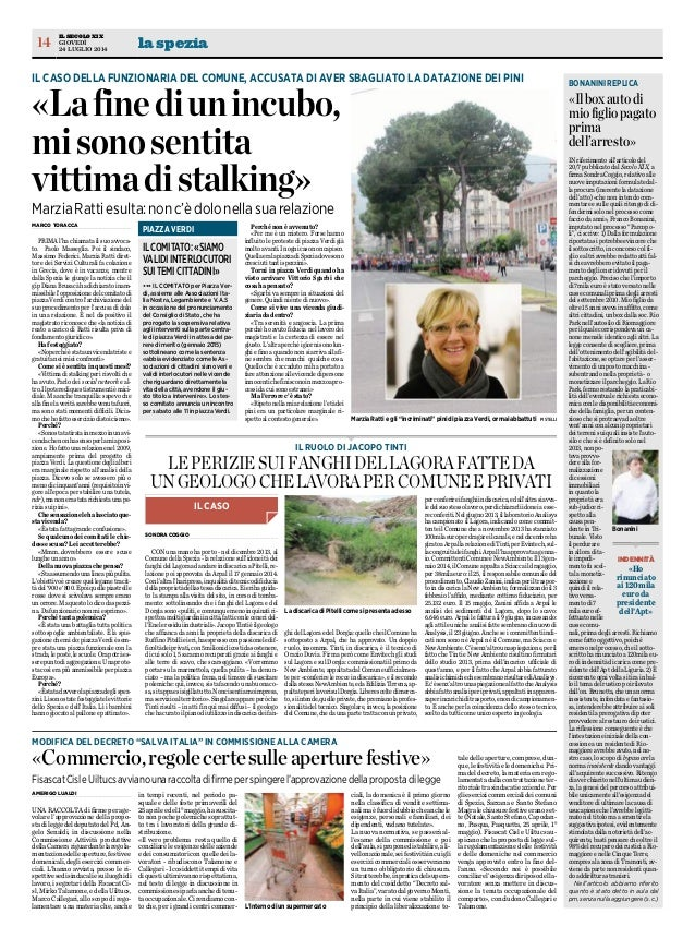 Secolo xix 24 7-014 intervista dott.sa Ratti su progetto Piazza Verdi SP