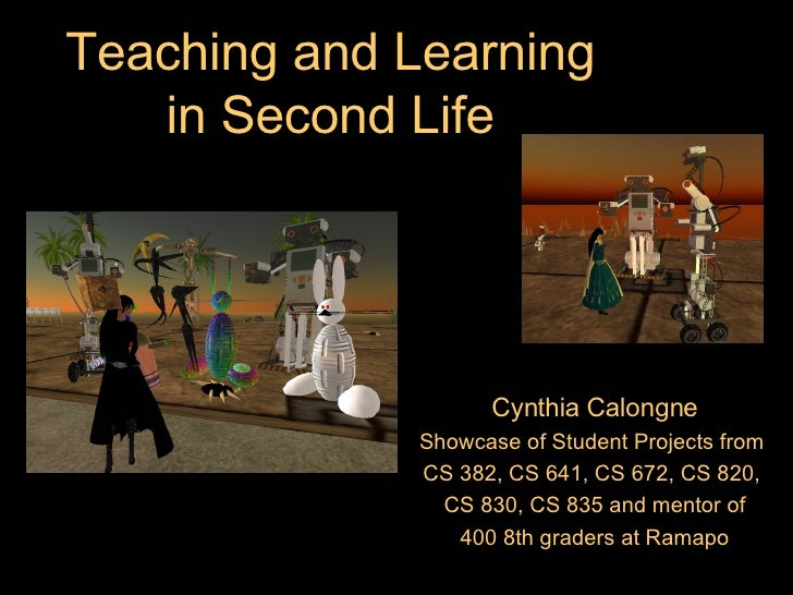 Second Life: Educator of the Year 2008 Showcase
