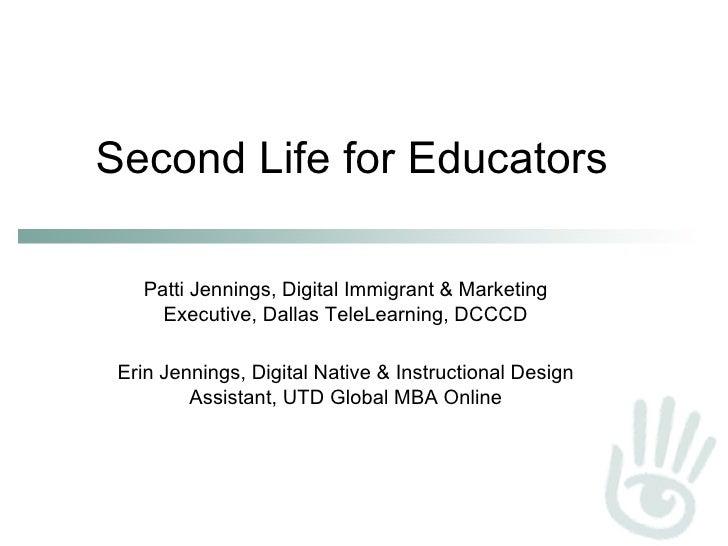 Second Life For Educators