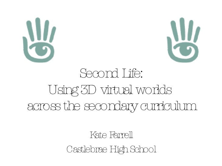 Second Life - handout version (text only)