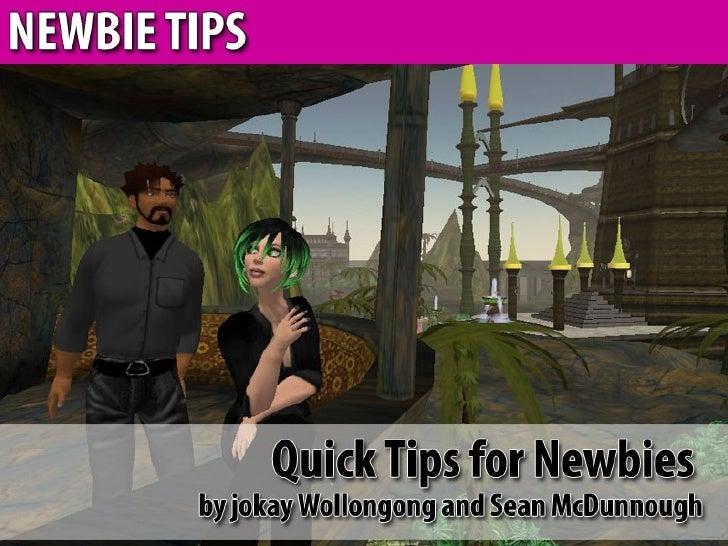 Second Life Newbie Tips